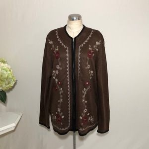 Dress Barn Zipper Front Cardigan Sweater
